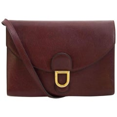 Delvaux Red Leather Clutch