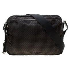 Alexander McQueen Black Mirco Skull Printed Nylon Messenger Bag