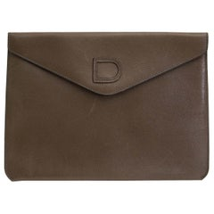 Delvaux Taupe Enveloppe Clutch
