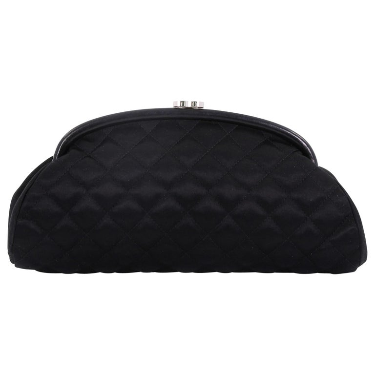 16dc437a55fe Chanel Timeless Clutch Quilted Satin For Sale at 1stdibs