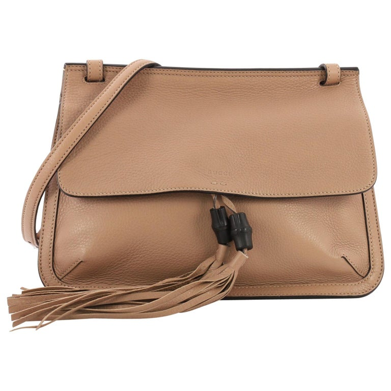 aa3a1c03070c Gucci Bamboo Daily Flap Bag Leather For Sale at 1stdibs