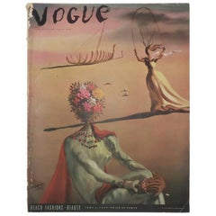 1939 Vogue Magazine With Salvador Dali Cover Art