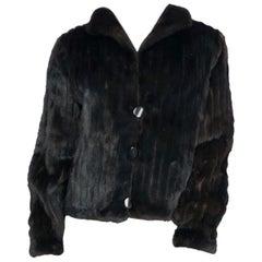 1980s Dark Brown Mink Sport Jacket
