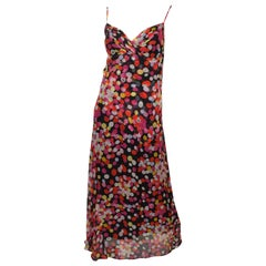 Chanel Silk Chiffon Printed Maxi Gown