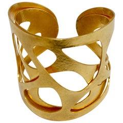 """Herve van der Straeten Gilded Brass """"Giraffe"""" Cuff"""