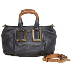 Chloe Blue Navy Leather Ethel Satchel Hungary