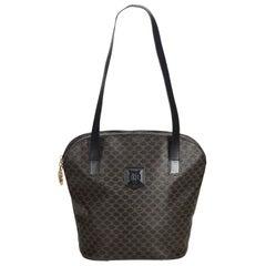 Celine Black PVC Plastic Macadam Tote Bag Italy