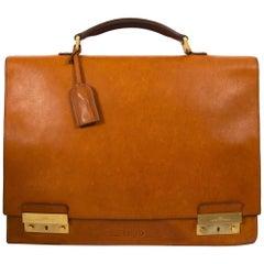 Delvaux Men's Vachetta Leather Briefcase