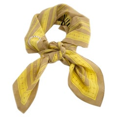 Delvaux Yellow Square Scarf