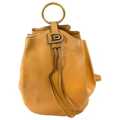 Delvaux Mustard Yellow Bucket Bag