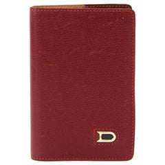 Delvaux Red Leather Passport Holder