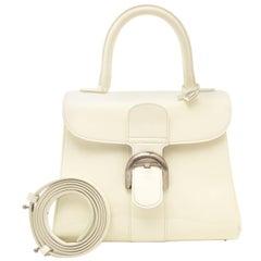 Delvaux White Patent Leather Brillant PM + Strap