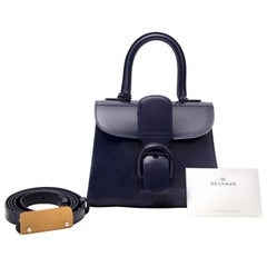 Delvaux Brillant Mini Vernis Indigo Blue