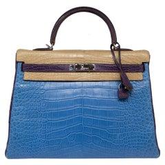 ee87a4cada Hermès Special Order Tri-Colour Alligator Leather 35cm Kelly Bag