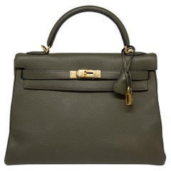 Hermes Canopee Togo Leather 32cm Kelly Bag