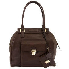 Delvaux Brown Coquin Shoulder Bag