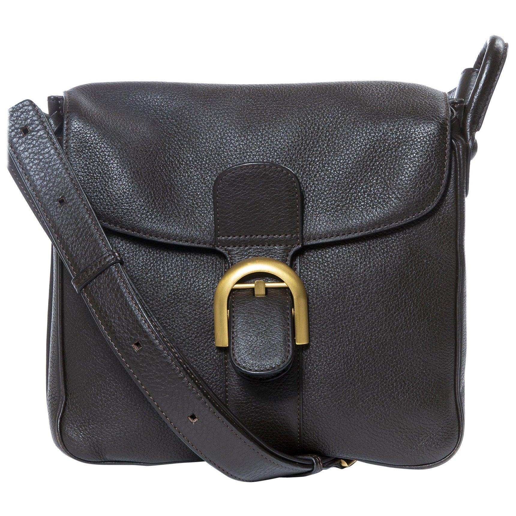 Delvaux Brillant Baudrier Brown Leather Bag