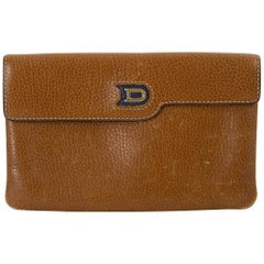 Delvaux Brown Leather Pouch