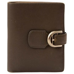 Delvaux Brillant Brown Leather Wallet