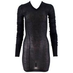 Louis Vuitton Dark Grey Cashmere Blend Long-Sleeved Dress US 6