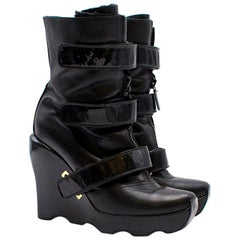 Louis Vuitton Limited Edition Leather Wedge Boots US 10.5