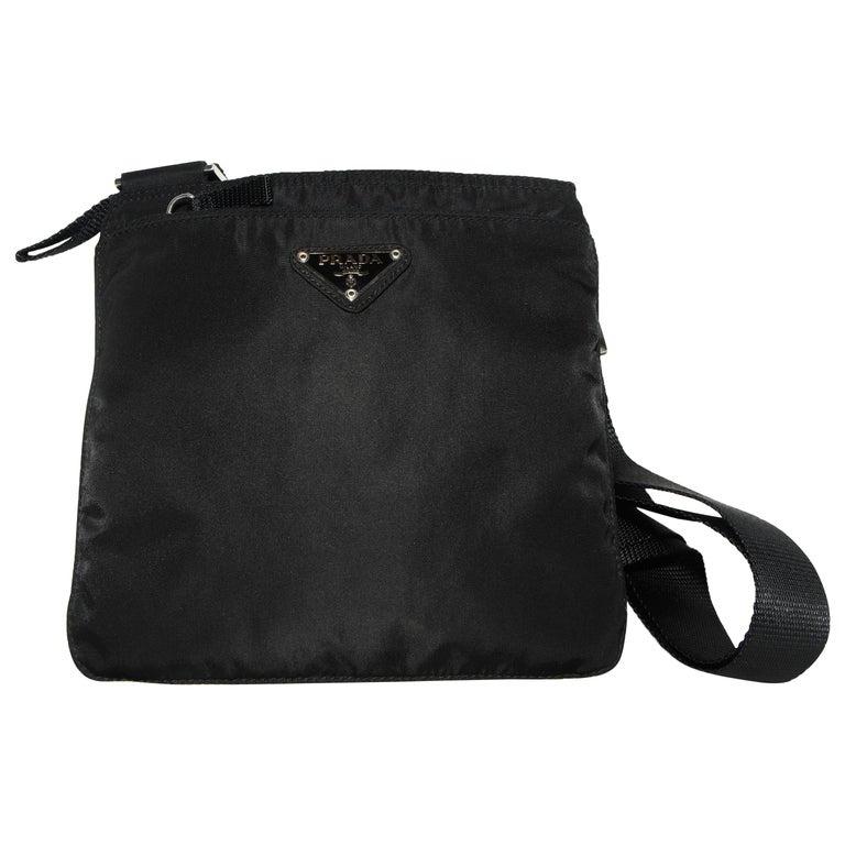 8bbc6ec82663 Prada Black Nylon Crossbody Bag For Sale at 1stdibs