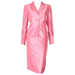 Prada Primavera Pink Blossom Skirt Suit