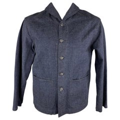 TCB Jeans L Indigo Cotton Shawl Collar Jacket