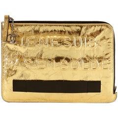 Chanel JE NE SUIS PAS EN SOLDE Gold Folio Clutch
