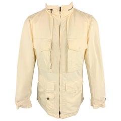 GIORGIO ARMANI 38 Size 38 Cream Cotton / Nylon Zip Fly Jacket