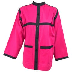 Yves Saint Laurent Hot Pink Colour Block Jacket 1970s