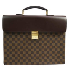 Louis Vuitton Monogram Canvas Men's Women's Travel Top Handle Briefcase Bag