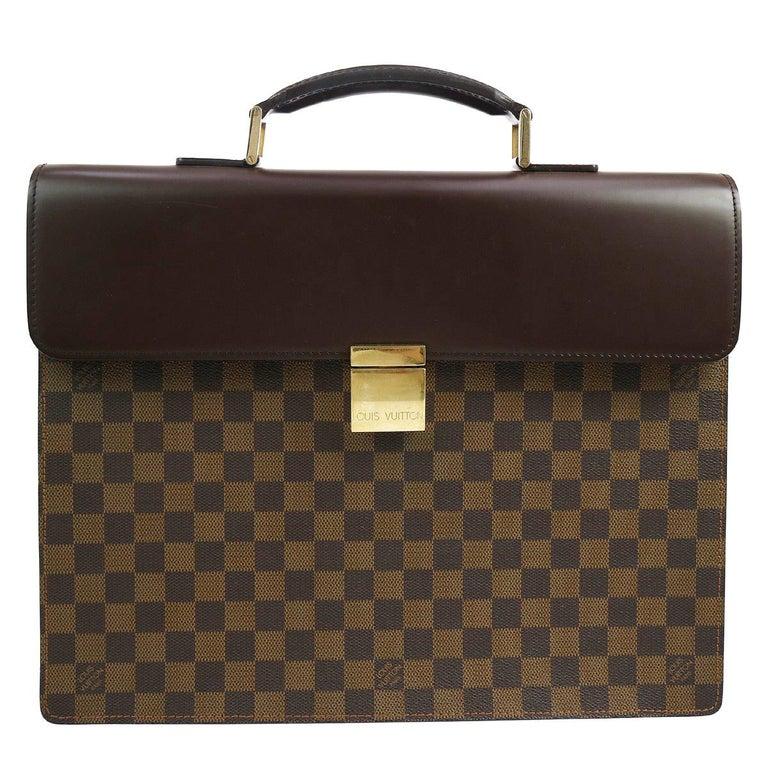 cf661ab60c35 Louis Vuitton Monogram Canvas Men s Women s Travel Top Handle Briefcase Bag  For Sale