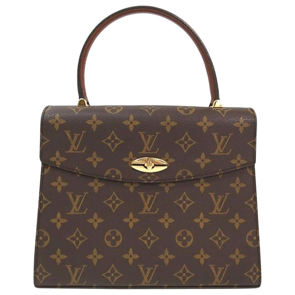 Louis Vuitton Vintage Kelly Style Gold Evening Top Handle Satchel Bag