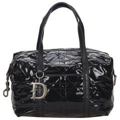 Dior Black PVC Plastic Cannage Handbag Italy w/ Dust Bag
