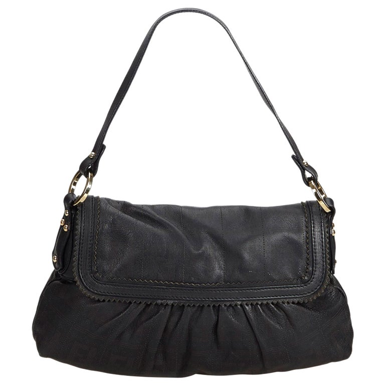 f89cb4fe60f9 Fendi Black Leather Chef Baguette Italy For Sale at 1stdibs