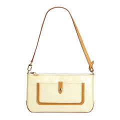 Louis Vuitton White Pearl Vernis Leather Leather Vernis Mallory Spain