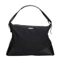 Gucci Black Nylon Fabric Travel Bag Italy
