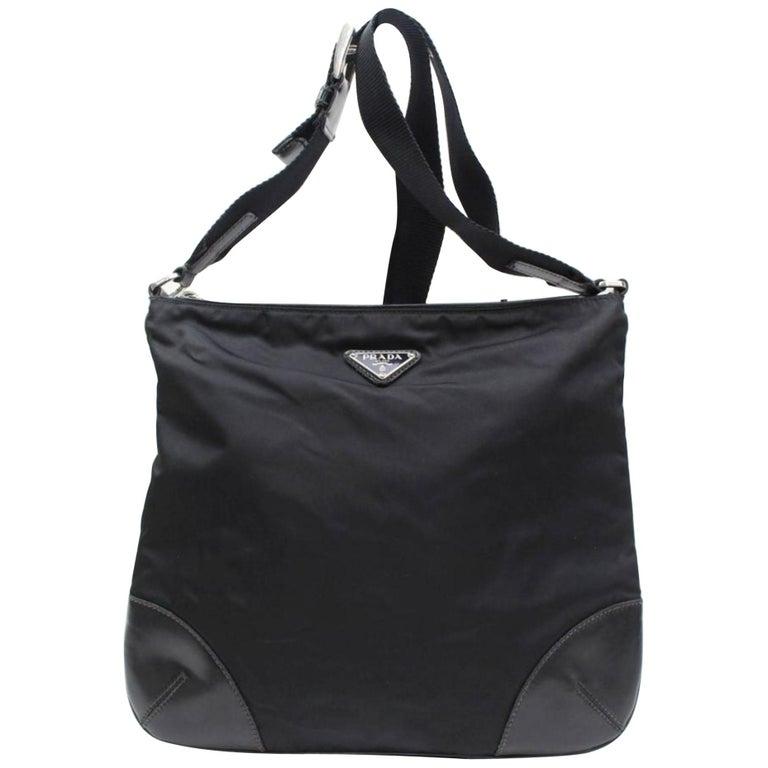 5981714eaa3c Prada Messenger 867628 Black Nylon Cross Body Bag For Sale at 1stdibs