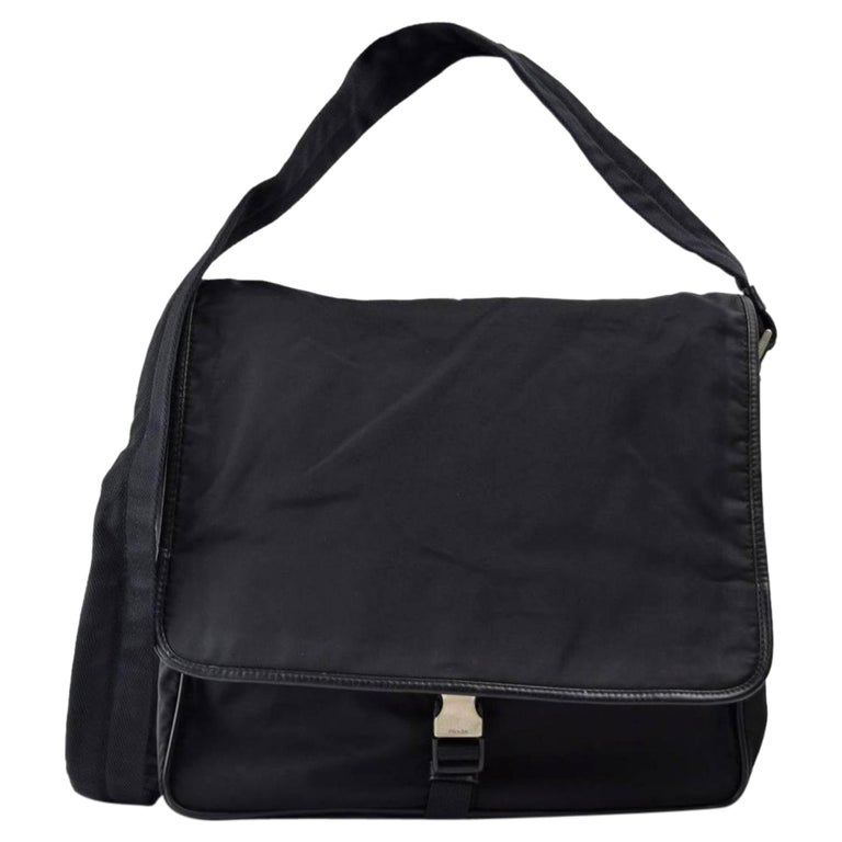 eae7b6be8bd91a Prada Crossbody Messenger 867319 Black Nylon Laptop Bag For Sale at ...