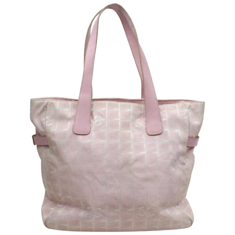 3a1f8bb7b5b1 Chanel New Line Travel Gm 868959 Pink Canvas Tote For Sale at 1stdibs