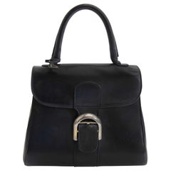 Delvaux Brillant Boxcalf Dark Blue PM Bag