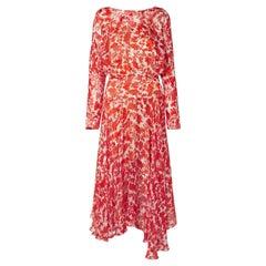Preen by Thornton Bregazzi Norma Printed Silk Midi Dress