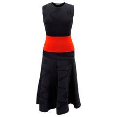 Alexander McQueen black & red knit dress US 4