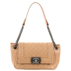 Chanel Boy Accordion Flap Bag Quilted Lambskin Small