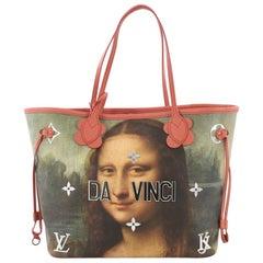 Louis Vuitton Neverfull NM Tote Limited Edition Jeff Koons Da Vinci Print Canvas