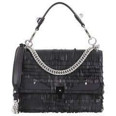 Fendi Monster Kan I Handbag Fringe Leather Medium