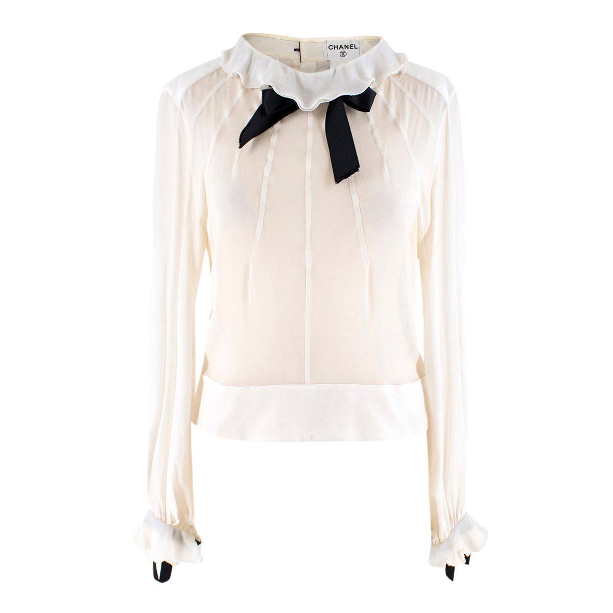 cddca4d5756ee Vintage Chanel Shirts - 123 For Sale at 1stdibs