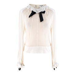 Chanel Cream Silk-Chiffon Blouse US 8