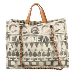 Chanel Iliad Shopping Tote Printed Canvas Medium